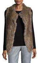 Joie Andoni Draped Rabbit Fur Vest
