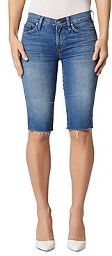 Hudson Amelia Cutoff Denim Bermuda Shorts in True Colors
