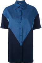 Neil Barrett colour block denim shirt