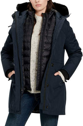 UGG Adirondack 3-in-1 Parka Coat w/ Fur-Trim Hood