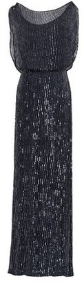 Rachel Gilbert Sequined Voile Gown