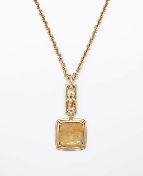 Ann Taylor Faceted Stone Pendant