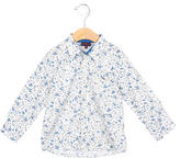 Paul Smith Girls' Floral Print Button-Up Top