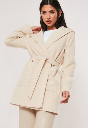 Missguided Hooded Formal Coat