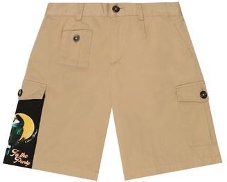 Dolce & Gabbana Kids Stretch-cotton cargo shorts
