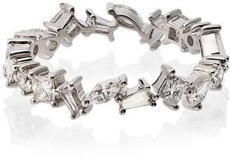 Rosa de la Cruz 18k White Gold Diamond Ring