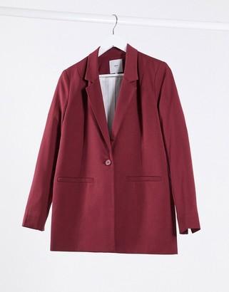 Minimum straight blazer in maroon