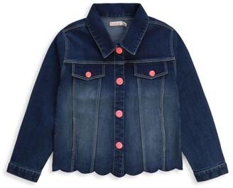 Billieblush Little Girl's & Girl's Mermaid Tail Denim Jacket