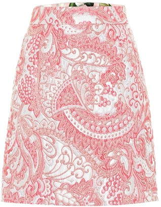 Dolce & Gabbana Metallic jacquard miniskirt