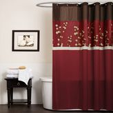 Bed Bath & Beyond Cocoa Flower Red Fabric Shower Curtain