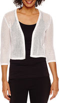 BE BY CHETTA B Be by CHETTA B 3/4 Sleeve Open Work Shrug