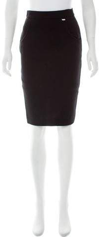 Chanel Wool Pencil Skirt