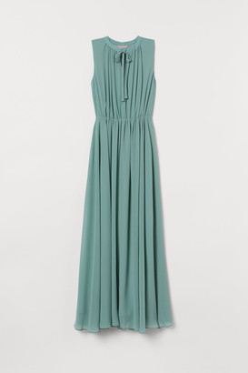 H&M Long Chiffon Dress - Turquoise