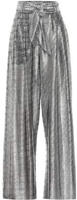 Christopher Kane High-rise metallic wide-leg pants