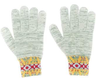 Missoni pattern knit gloves