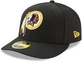 New Era Men's Black Washington Redskins Omaha Low Profile 59FIFTY Structured Hat