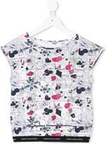 John Galliano journal print T-shirt
