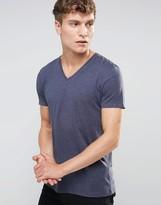 Esprit V-Neck T-Shirt in Navy Marl