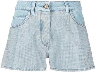 Golden Goose Stud Detail Denim Shorts