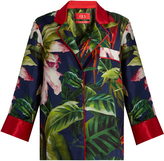 F.R.S - FOR RESTLESS SLEEPERS Era tropical floral-print silk pyjama top