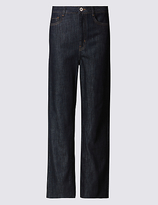 Limited Edition Mid Rise Cropped Wide Leg Jeans