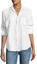 Frank And Eileen Eileen Button-Front Poplin Shirt, White