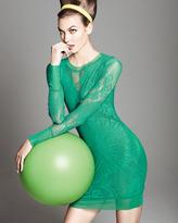 Jean Paul Gaultier Lace-Mesh Long-Sleeve Dress