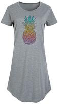 Instant Message Women's Women's Tee Shirt Dresses HEATHER - Heather Gray Rainbow Henna Pineapple Short-Sleeve Dress - Women & Plus