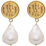 Carousel Jewels Antique Coin & Pearl Earrings