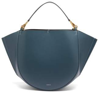 Wandler Mia Large Leather Tote Bag - Womens - Blue