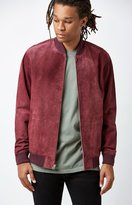 Obey Clifton Suede Bomber Jacket