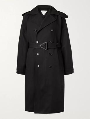 Bottega Veneta Cotton-Canvas Trench Coat - Men - Black