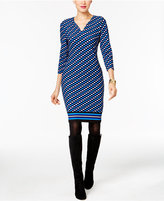 ECI Printed Sheath Dress