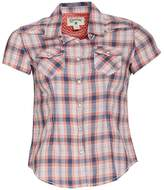 Converse Womens Pocket Plaid Short Sleeve Shirt Vintage Petal Multi