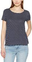 Tom Tailor Women's Palm Shirt W Wrap At Back T-Shirt