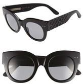 Bottega Veneta Women's 48Mm Sunglasses - Black/ Black/ Grey