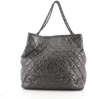 Chanel Chain Me Tote Quilted Calfskin Large