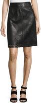 Lafayette 148 New York Madeline Laser-Cut Skirt, Black