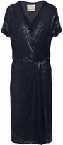 Jason Wu Beaded silk-chiffon wrap-effect dress