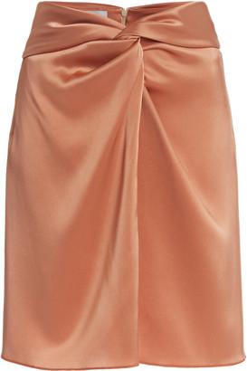 Nanushka Milo Draped Satin Mini Skirt