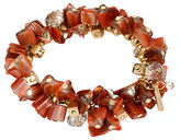 Kenneth Cole New York Orange Shell Shell Chip Bead Stretch Bracelet