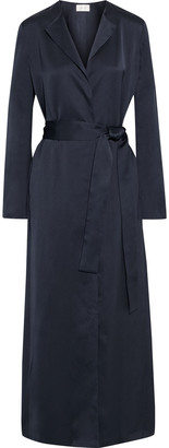 The Row Madie Belted Silk-satin Wrap Coat