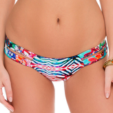 Luli Fama Strapped Front Low Rise Bottom In Multicolor (L508314)