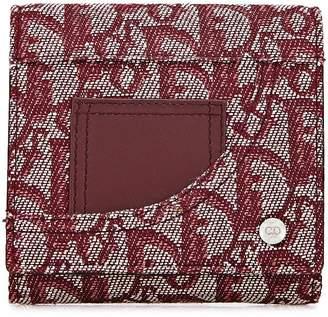 Christian Dior Burgundy Trotter Canvas Wallet