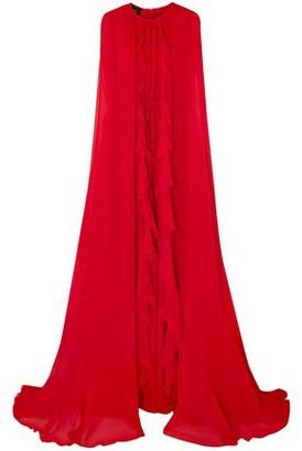 Giambattista Valli Cape-back Ruffle-trimmed Silk-chiffon Gown