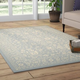 Andover Mills Phineas Oriental Light Blue Indoor / Outdoor Area Rug Rug Size: Rectangle 8' x 11'4""