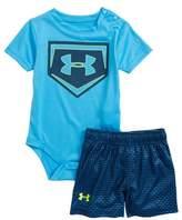 Under Armour Sync Home Plate Logo Bodysuit & Shorts Set