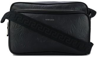 Versace Embossed Zipped Messenger Bag