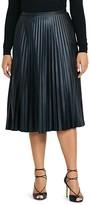 Lauren Ralph Lauren Plus Accordion Pleat Faux Leather Skirt