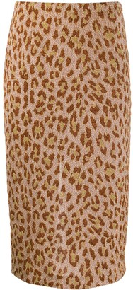Semi-Couture Leopard Print Pencil Skirt